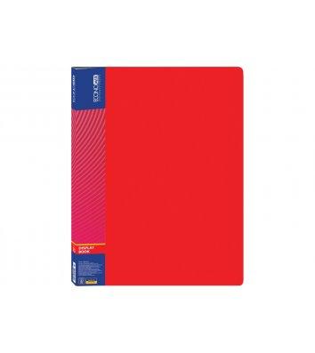Папка А4 пластикова з 10 файлами червона, Economix