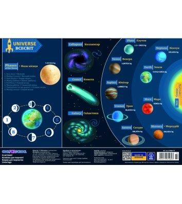 """Коврик для детского творчества А3 пластиковый """"Universe"""", Cool for School"""