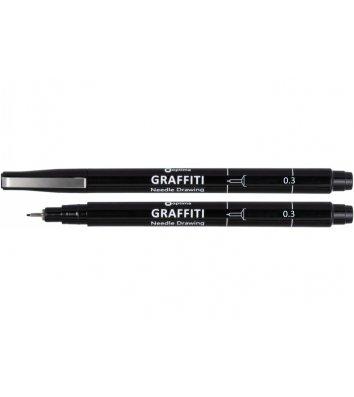 Лайнер Graffiti, цвет чернил черный 0,3мм, Optima
