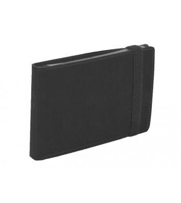 Визитница на 20 визиток на резинке Vivella черная, Optima