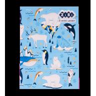 """Блокнот А5 64арк клітинка """"Sea world"""", Zibi"""