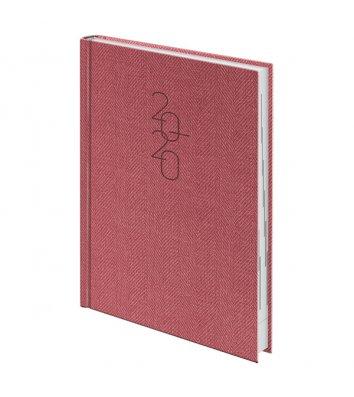 Ежедневник датированный A5 2020 Tweed красный, Brunnen