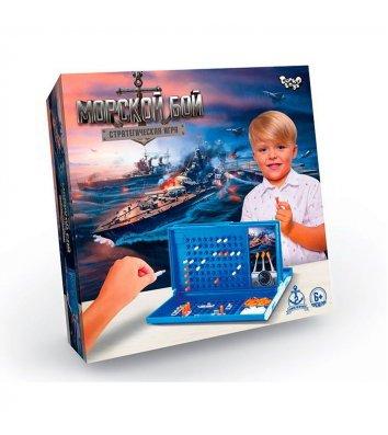 """Гра настільна розвиваюча """"Морський бій"""", Danko Toys"""