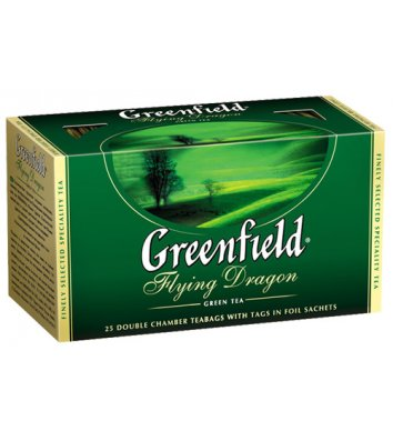 "Чай зеленый Greenfield ""Flying Dragon"" в пакетиках 25шт"