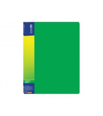 Папка А4 пластикова з 10 файлами зелена, Economix