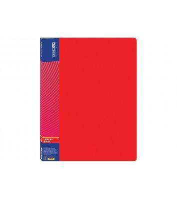 Папка А4 пластиковая с 20 файлами красная, Economix