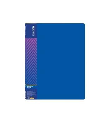 Папка А4 пластиковая с 10 файлами синяя, Economix