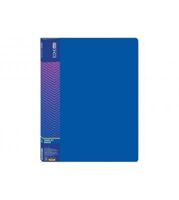 Папка А4 пластикова з 10 файлами синя, Economix