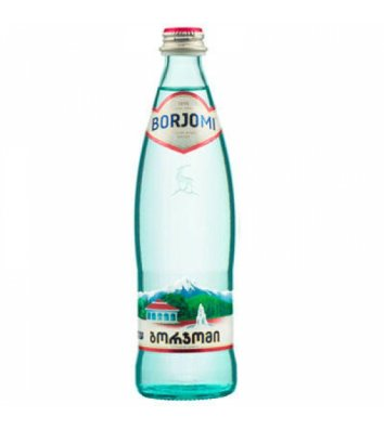 Вода мінеральна газована Borjomi 0,5л скло