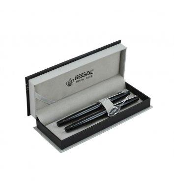 Набір ролер та ручка перова, колір корпусу чорний, Regal