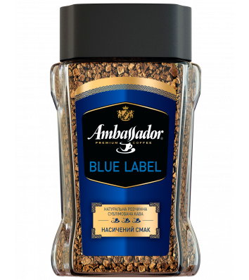 Кофе растворимый Ambassador Blue Label 190г