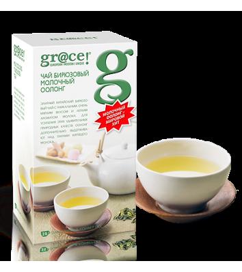 """Чай бірюзовий gr@ce! """"Молочний Оолонг"""" в пакетиках 25шт"""