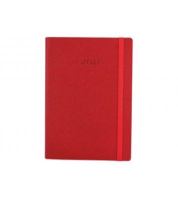 Щоденник датований A5 2020 Cross на гумці  червоний, Optima
