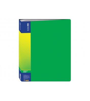 Папка А4 пластикова з 60 файлами зелена, Economix