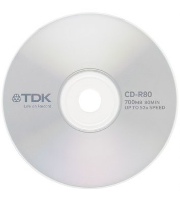 Диск CD-R 700mb 52x, TDK