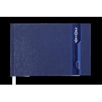 Еженедельник датированный 2019 карманный Velvet синий, Buromax