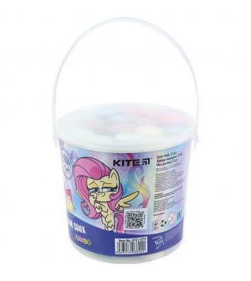 """Крейда кольорова 15шт у відерці """"Jumbo My Little Pony"""", Kite"""