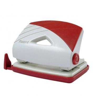 Діркопробивач  16арк корпус пластиковий колір сіро-червоний Duoton, Axent