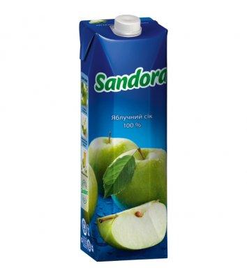 Сок Sandora 1л яблочный