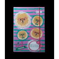 Папка B5 картонна на гумці для зошитів Doggy, Zibi
