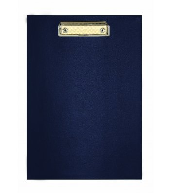 Планшет А4 с прижимом, искусственная кожа синий, Economix