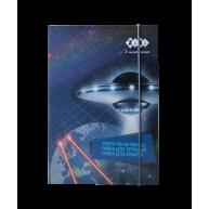 Папка B5 картонна на гумці для зошитів Cosmo, Zibi