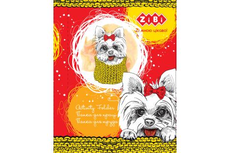 Папка для праці А4 на гумці ламінований картон Lovely Dog, Zibi