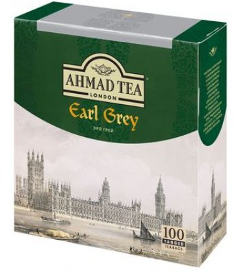 """Чай чорний Ahmad Tea """"Граф Грей"""" з бергамотом  в пакетиках 100шт"""