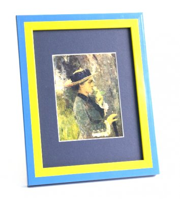 Фоторамка 21*30см желто-голубая, Velista