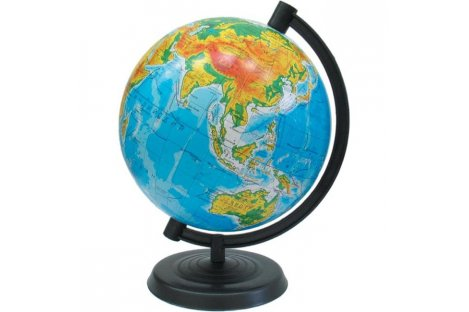 Глобус d16см Фізичний без підсвічування