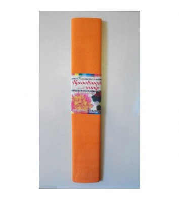 Папір гофрований 60% 28 г/м2  50*200см помаранчевий, Mandarin
