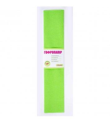 Папір гофрований салатовий 50*200см