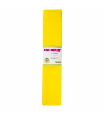 Папір гофрований жовтий 50*200см
