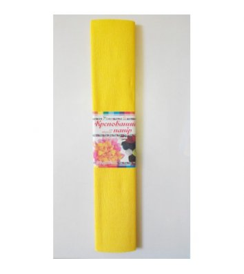 Бумага гофрированная желтая 50*200см 26г/м2