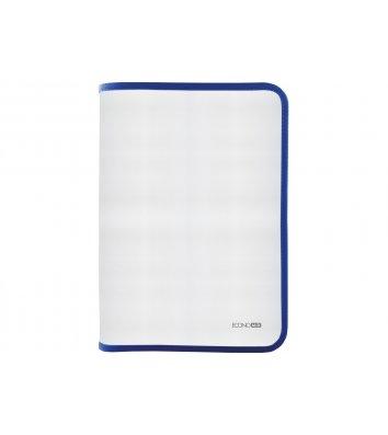Папка A4 пластиковая прозрачная с синей молнией, Economix