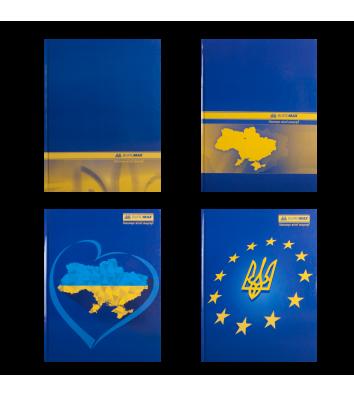 Книга канцелярская А4 192л клетка твердая обложка Ukraine, Buromax