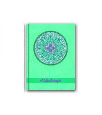 Блокнот А5 80арк клітинка Калейдоскоп бірюзовий, Optima