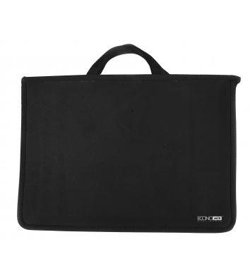 Портфель А4 пластиковий на блискавці 2 відділення чорний, Economix