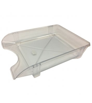 Лоток горизонтальный пластиковый прозрачный, Кип