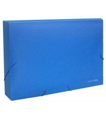 Папка-бокс А4 60мм пластикова на гумках синя, Economix