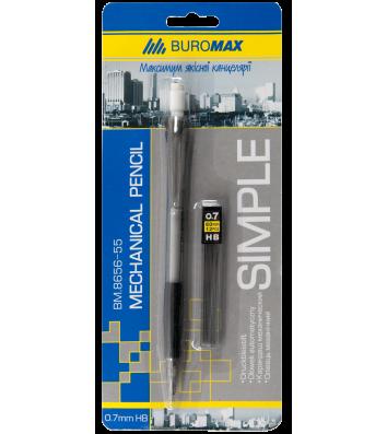 Карандаш механический 0,7мм Simple и стержни, Buromax