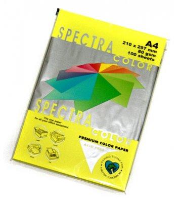 Бумага А4 80г/м2 100л цветная Spectra Color, неоновая желтая