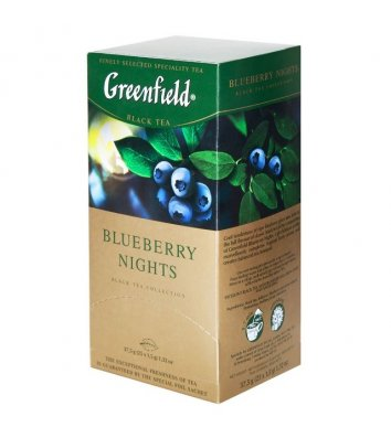 "Чай чорний Greenfield ""Blueberry Nights"" в пакетиках 25шт"