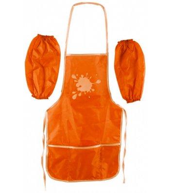 Фартук с нарукавниками оранжевый, Cool for School