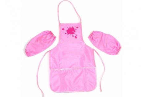 Фартук с нарукавниками розовый, Cool for School