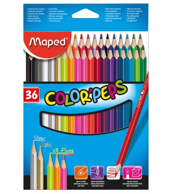 Олівці кольорові 36шт тригранні COLOR PEPS Classic, Maped