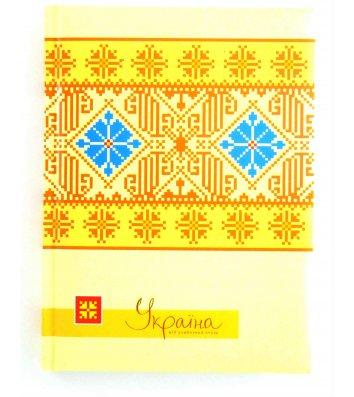 Блокнот А5 80арк клітинка Україна жовто-бежевий, Optima