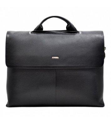 Портфель мужской кожаный черный 1312, Desisan