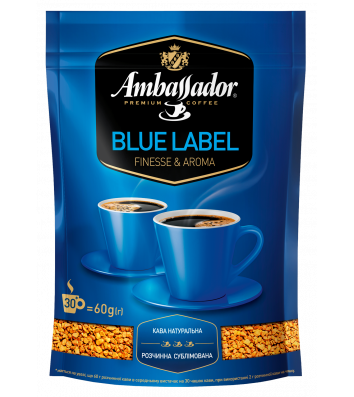 Кофе растворимый Ambassador Blue Label, пакет 60г