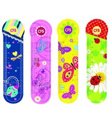 """Закладки пластиковые для книг 4шт """"Butterflies"""", Cool for School"""